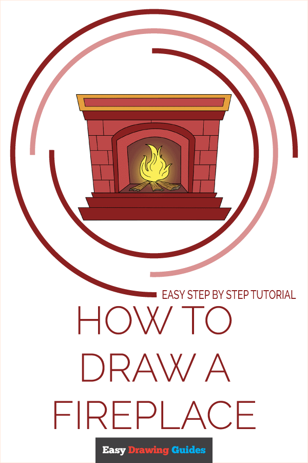 How to Draw Fireplace | Share to Pinterest