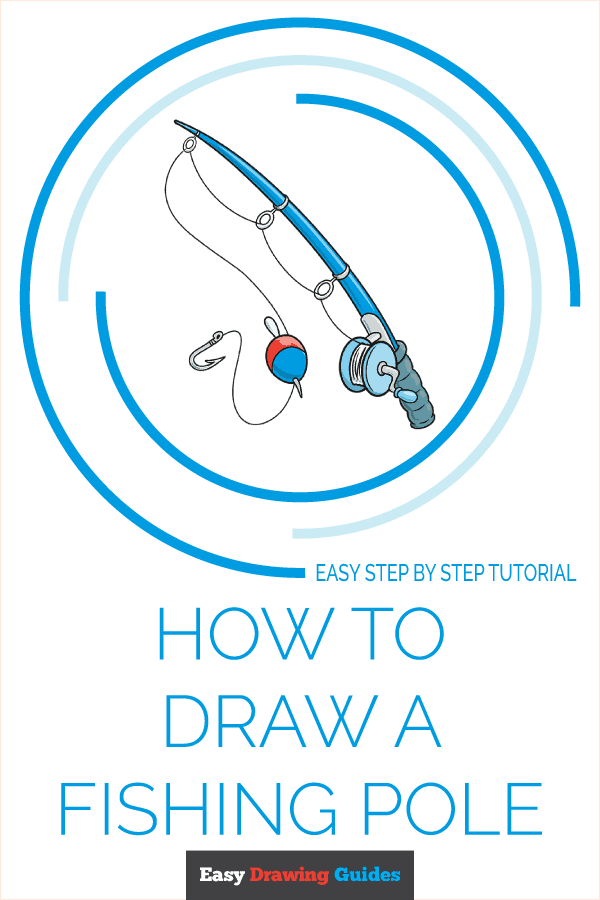 How to Draw a Fishing Pole Pinterest Image