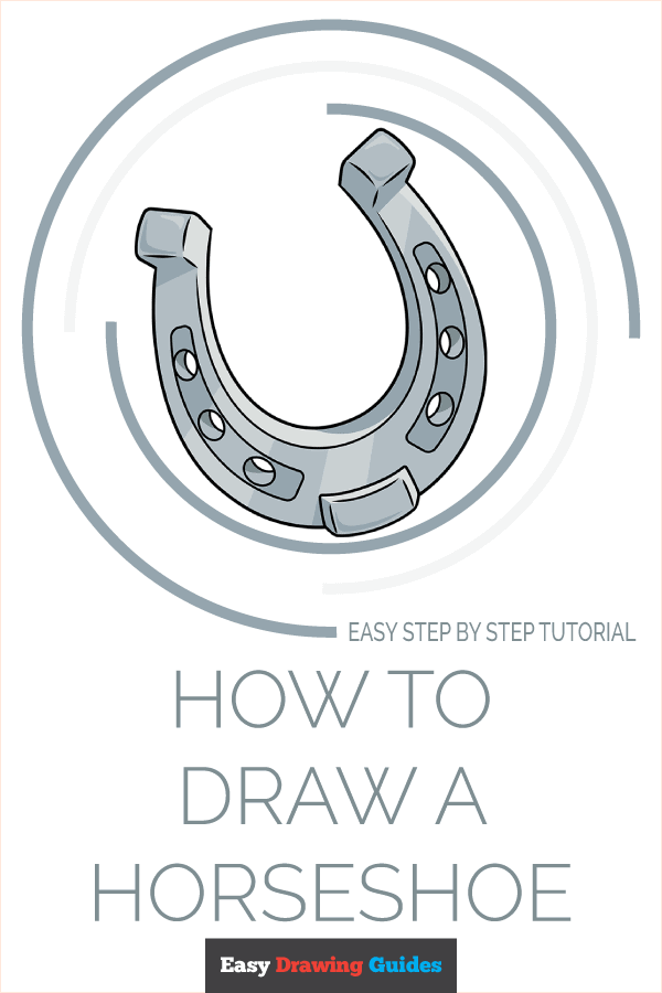 How to Draw Horseshoe | Share to Pinterest