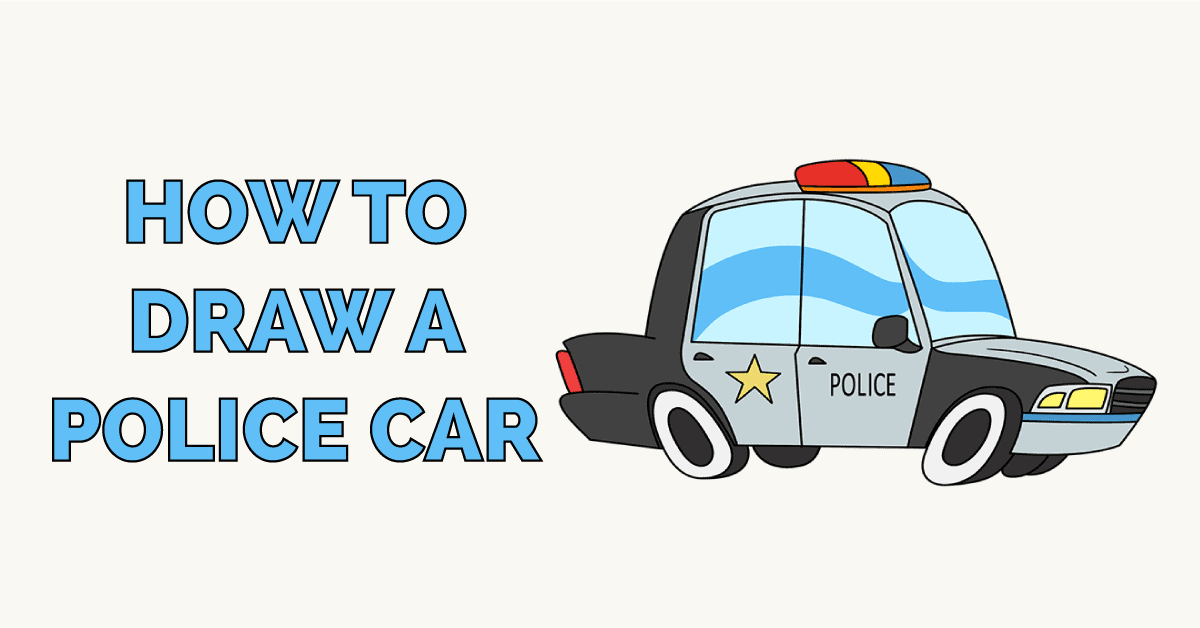 How to Draw a Police Car Featured Image
