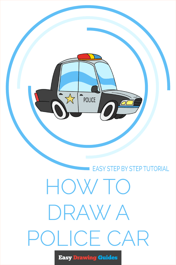 How to Draw Police Car | Share to Pinterest