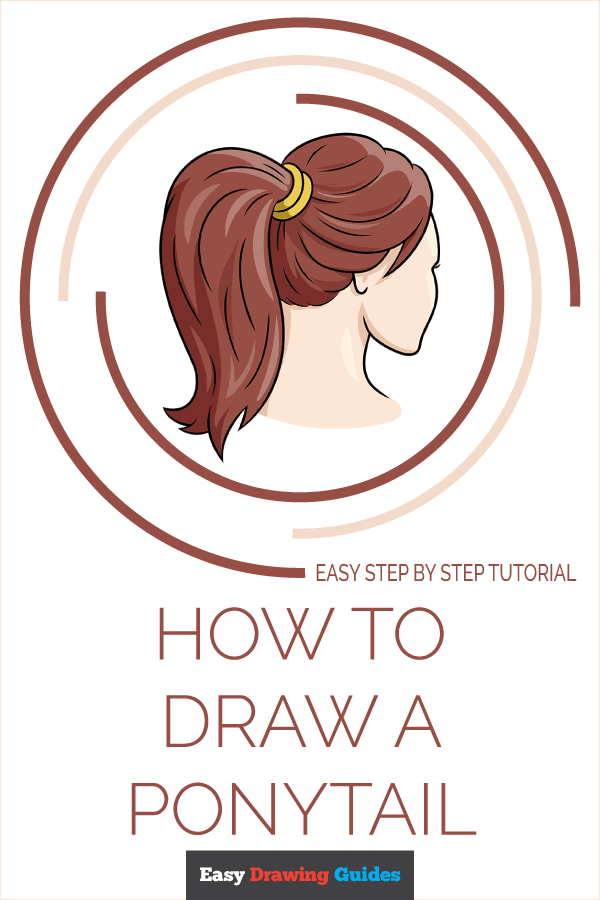 How to Draw Ponytail | Share to Pinterest