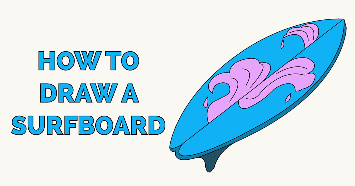 How to Draw a Surfboard Featured Image