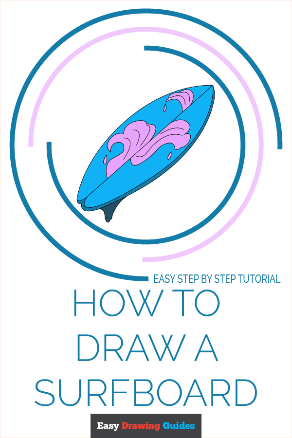How to Draw a Surfboard Pinterest Image