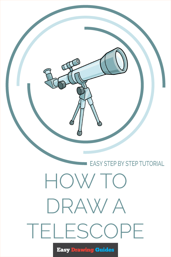 How to Draw Telescope | Share to Pinterest