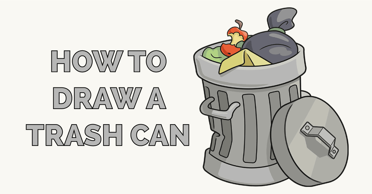 How to Draw a Trash Can Featured Image