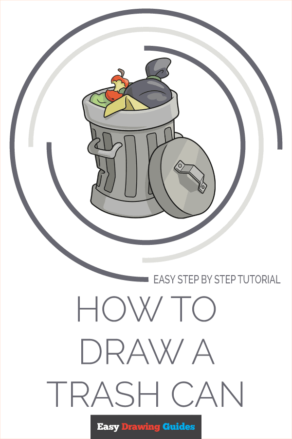 How to Draw Trash Can | Share to Pinterest