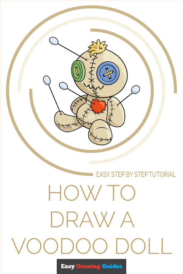 How to Draw Voodoo Doll | Share to Pinterest