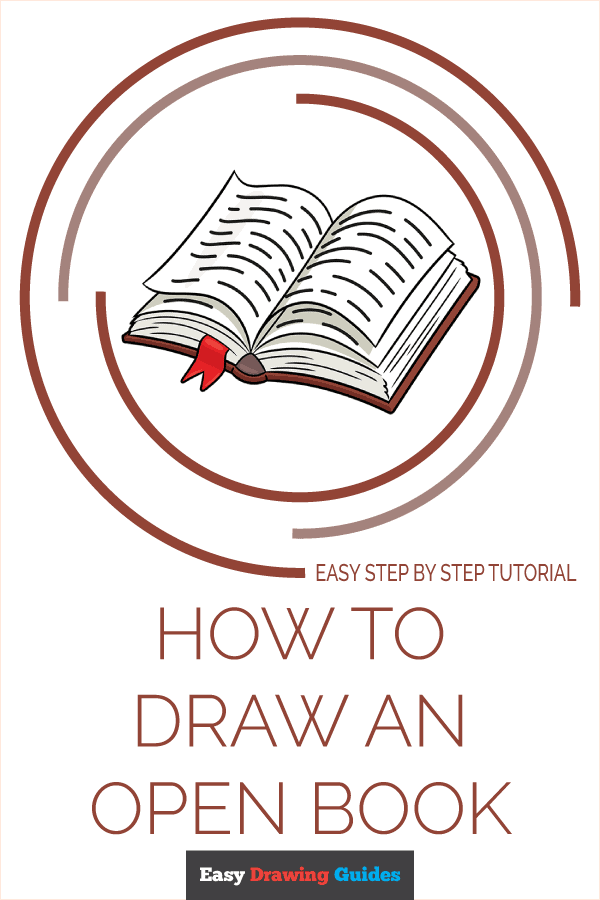 How to Draw Open Book | Share to Pinterest