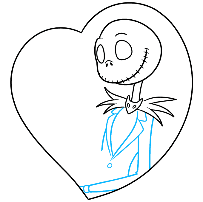How to Draw Jack and Sally from the Nightmare before Christmas Step 04