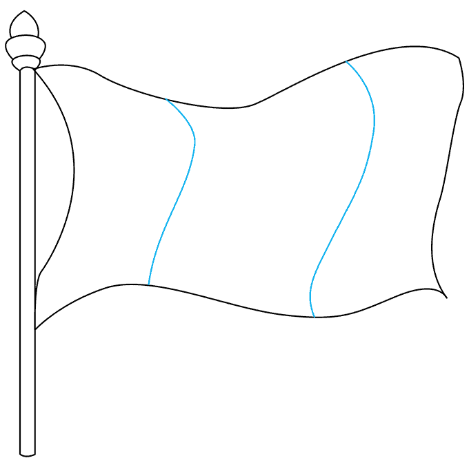 How to Draw Mexican Flag: Step 4