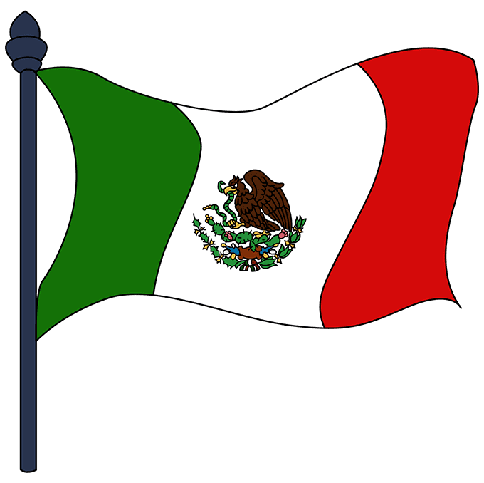 How to Draw Mexican Flag: Step 10