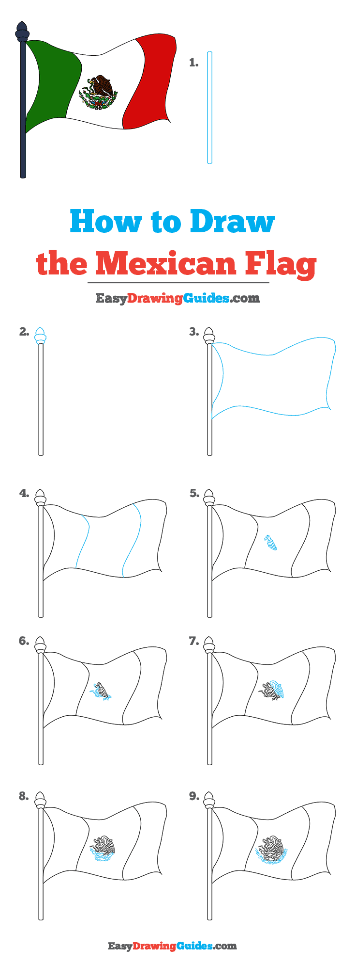 How to Draw Mexican Flag