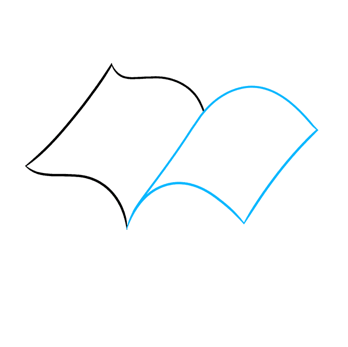 How to Draw Open Book: Step 2