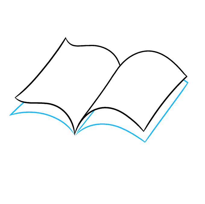 How to Draw Open Book: Step 3