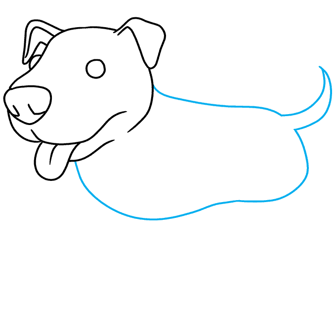 How to Draw Pitbull: Step 5