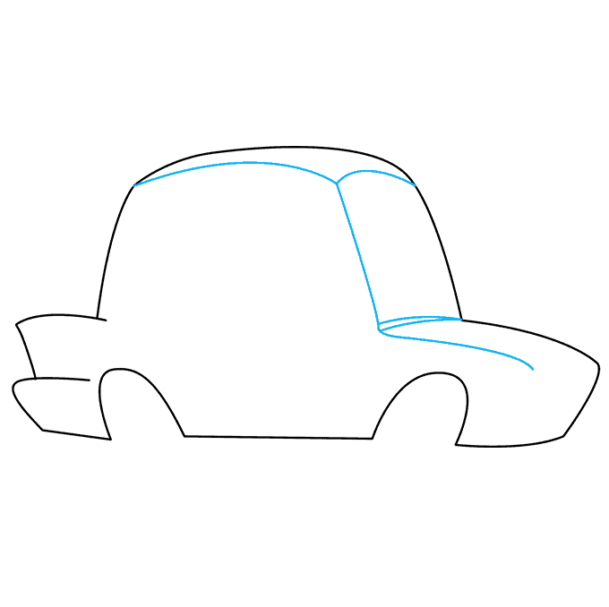 How to Draw Police Car: Step 2