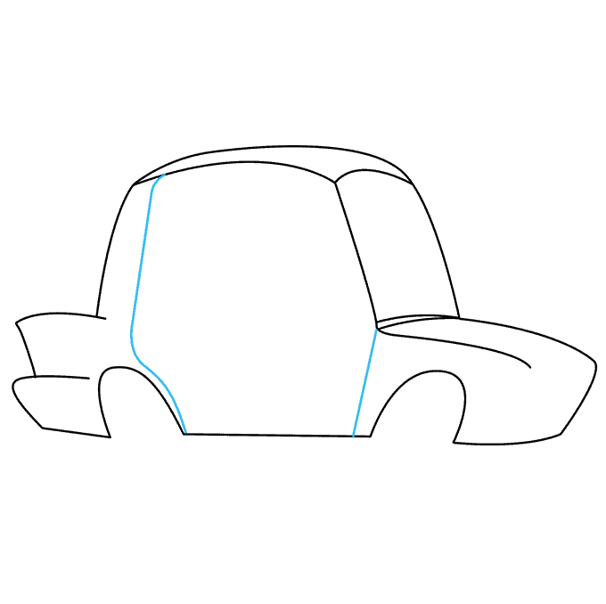 How to Draw Police Car: Step 3