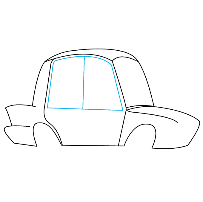 How to Draw Police Car: Step 4