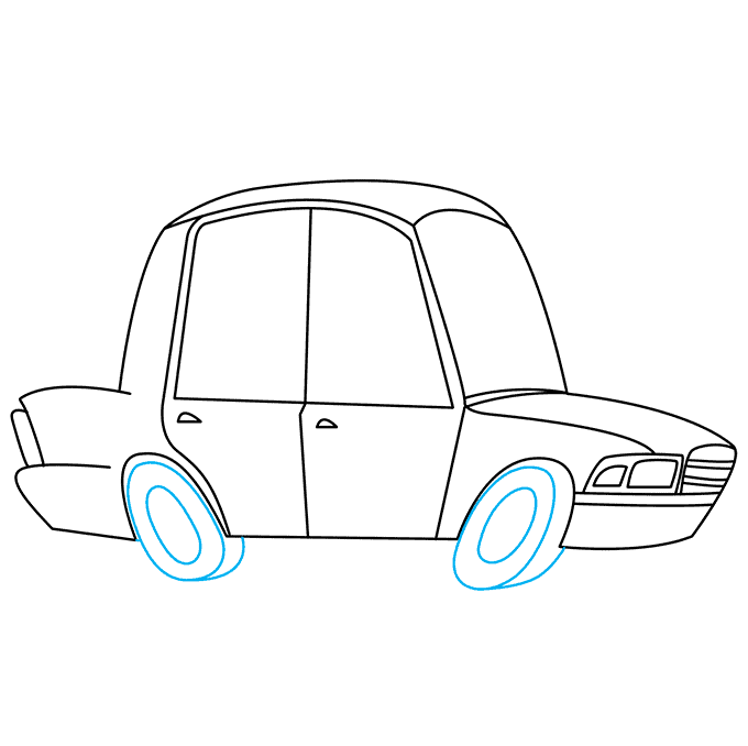 How to Draw Police Car: Step 6