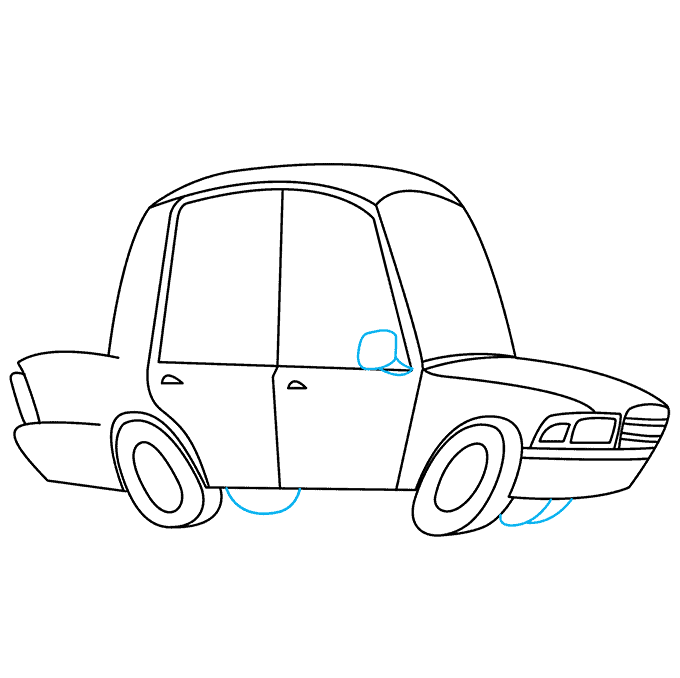 How to Draw Police Car: Step 7