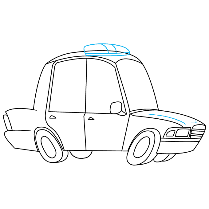 How to Draw Police Car: Step 8