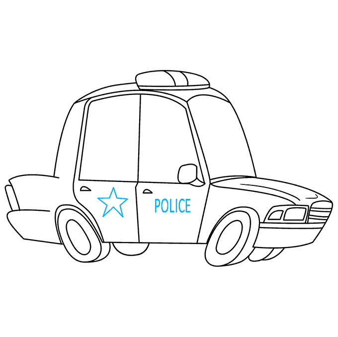 How to Draw Police Car: Step 9