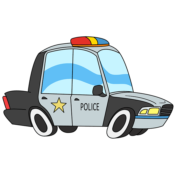 How to Draw Police Car: Step 10
