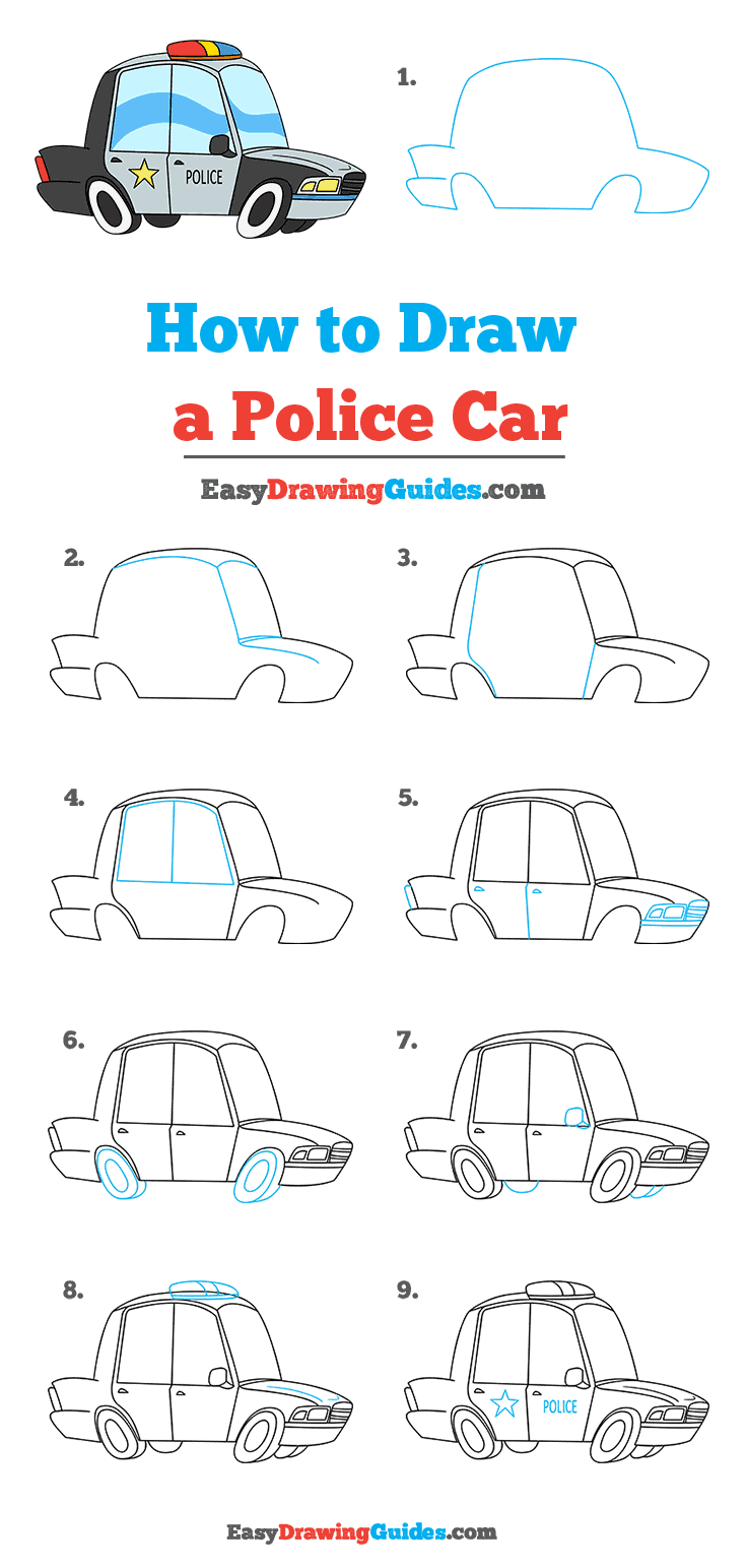 How to Draw Police Car