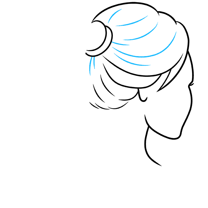 How to Draw Ponytail: Step 5