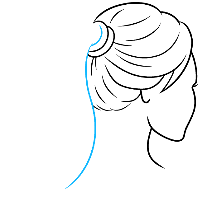 How to Draw Ponytail: Step 6