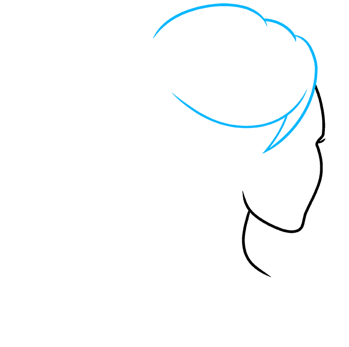 How to Draw Ponytail: Step 2