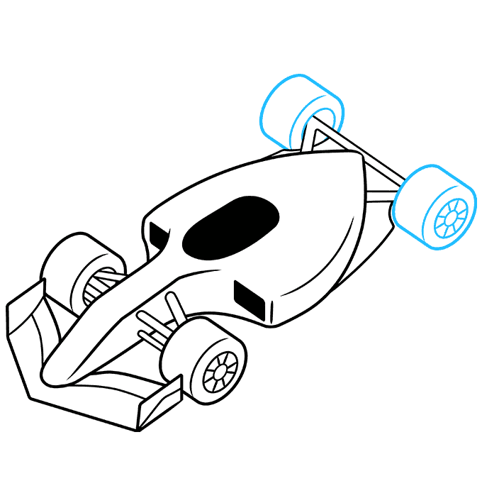 How to Draw Racecar: Step 7