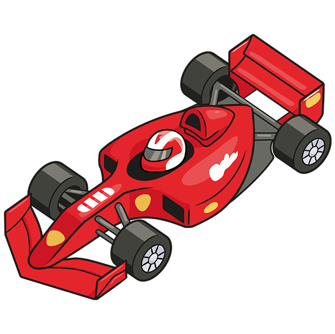 How to Draw Racecar: Step 10