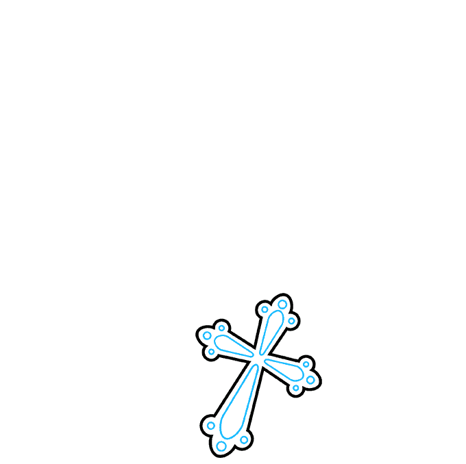 How to Draw Rosary: Step 2