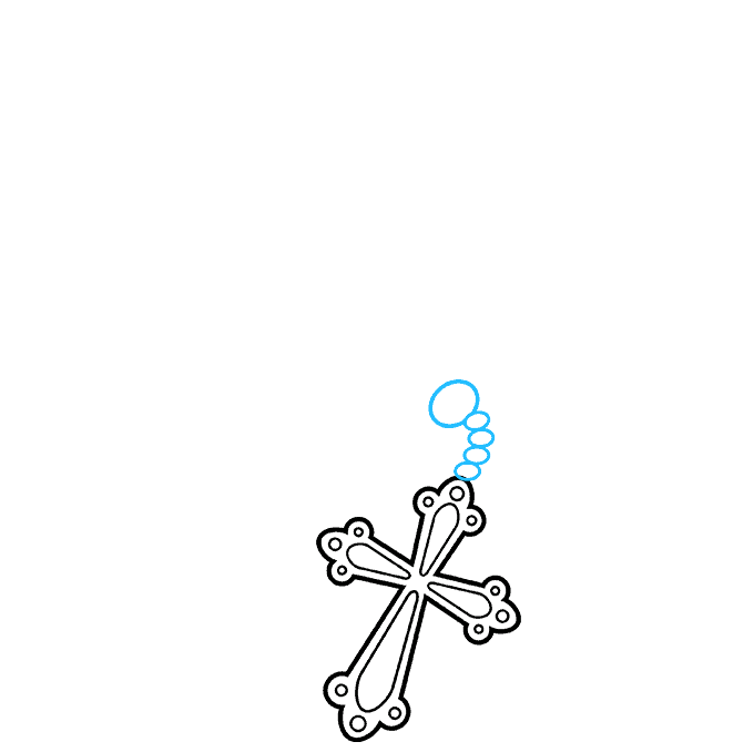 How to Draw Rosary: Step 3