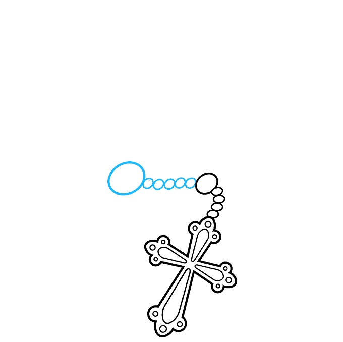 How to Draw Rosary: Step 4