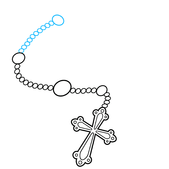 How to Draw Rosary: Step 6