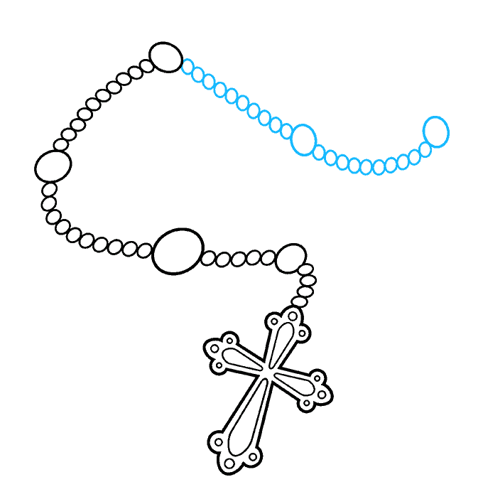 How to Draw Rosary: Step 7