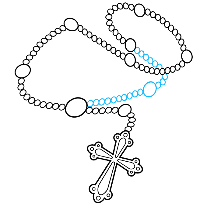 How to Draw Rosary: Step 9