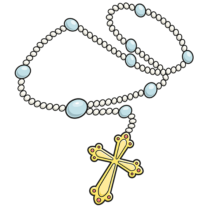 How to Draw Rosary: Step 10