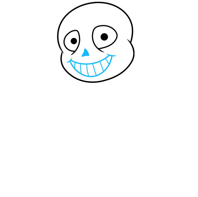 How to Draw Sans from Undertale: Step 3