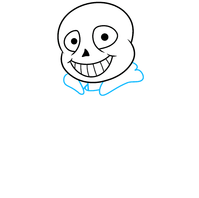 How to Draw Sans from Undertale: Step 4