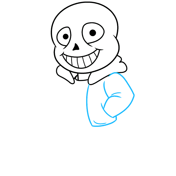 How to Draw Sans from Undertale: Step 5