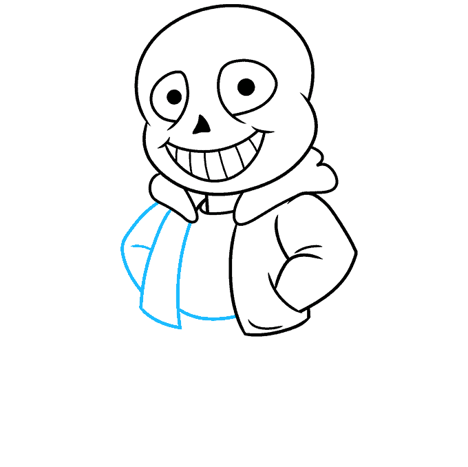 How to Draw Sans from Undertale: Step 6
