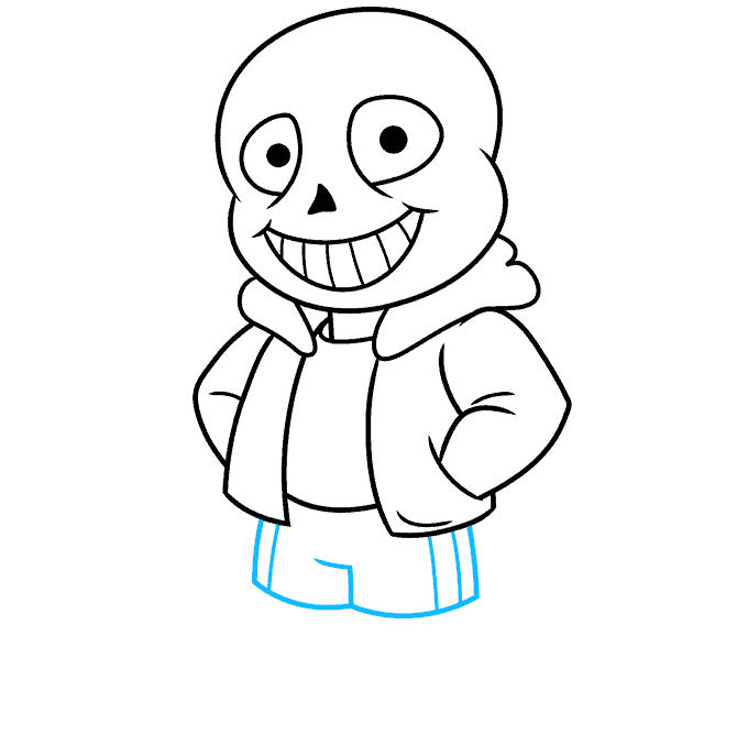 How to Draw Sans from Undertale: Step 7