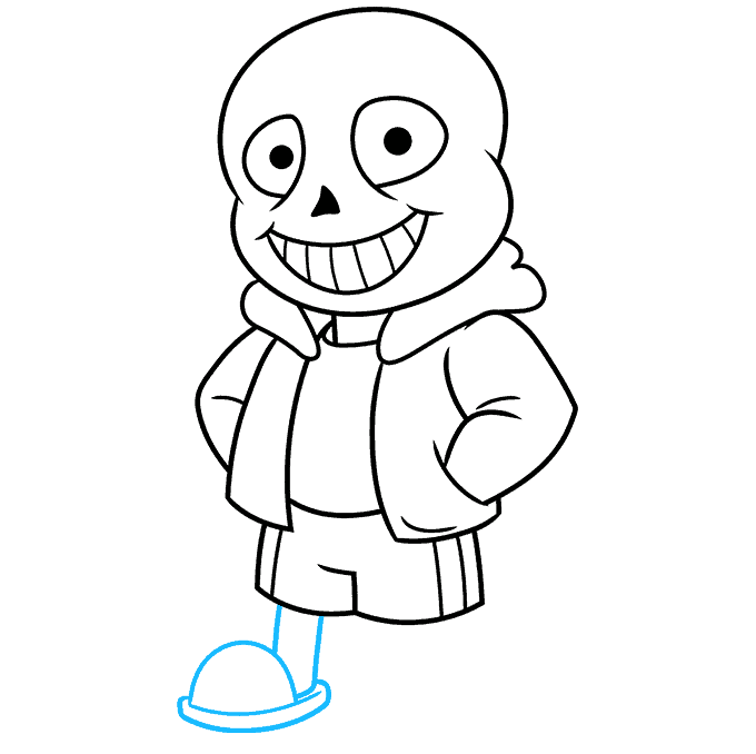How to Draw Sans from Undertale: Step 8