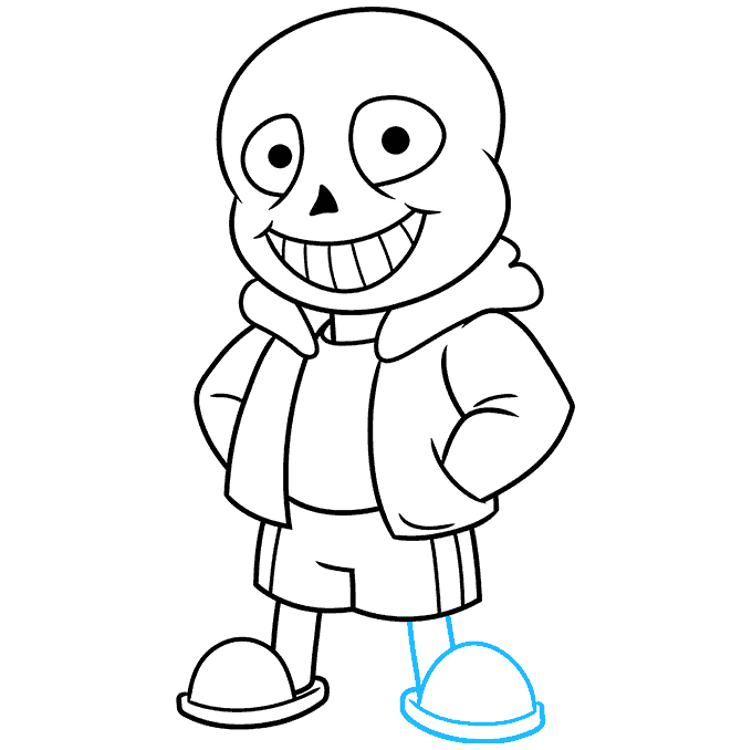 How to Draw Sans from Undertale: Step 9