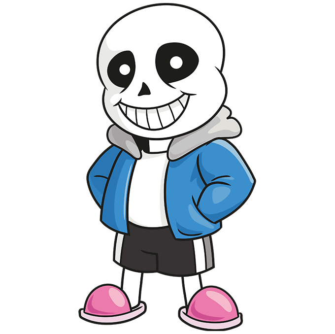 How to Draw Sans from Undertale: Step 10
