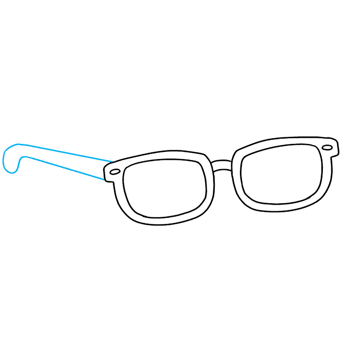How to Draw Sunglasses: Step 8